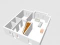 Erdgeschoss in 3D-Ansicht