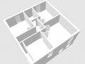 Obergeschoss in 3D-Ansicht