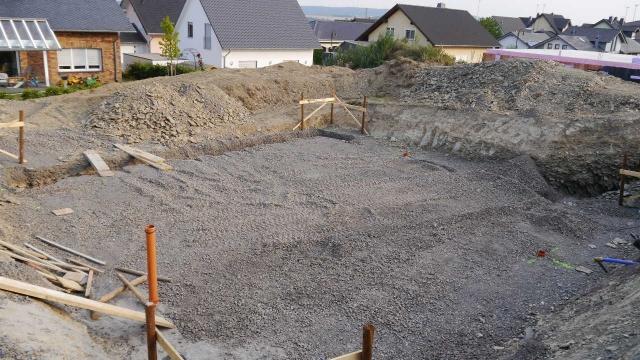 Baustand erster Tag abends