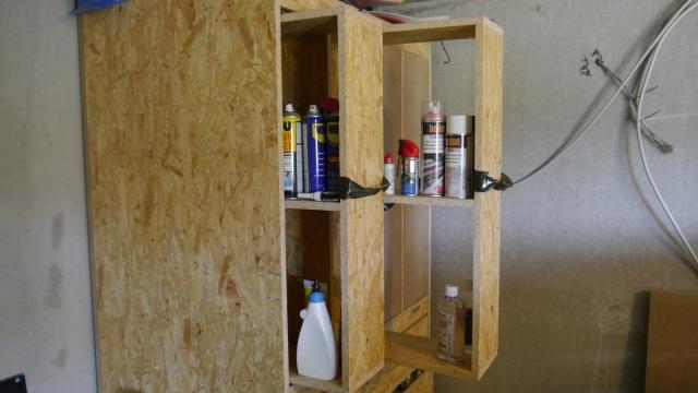 Werkstattschrank Schubladen für Farbdosen