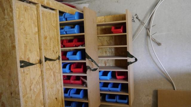 Werkstattschrank Schubladen für Schrauben