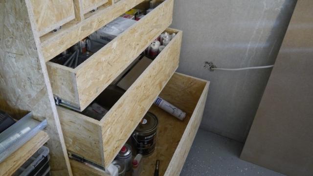 Werkstattschrank untere Schubladen